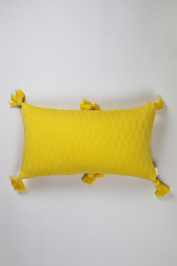 Backordered: Antigua Pillow - Bright Yellow Solid