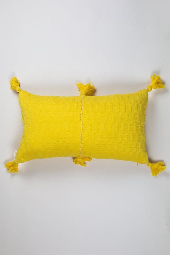 Antigua Pillow - Bright Yellow Solid