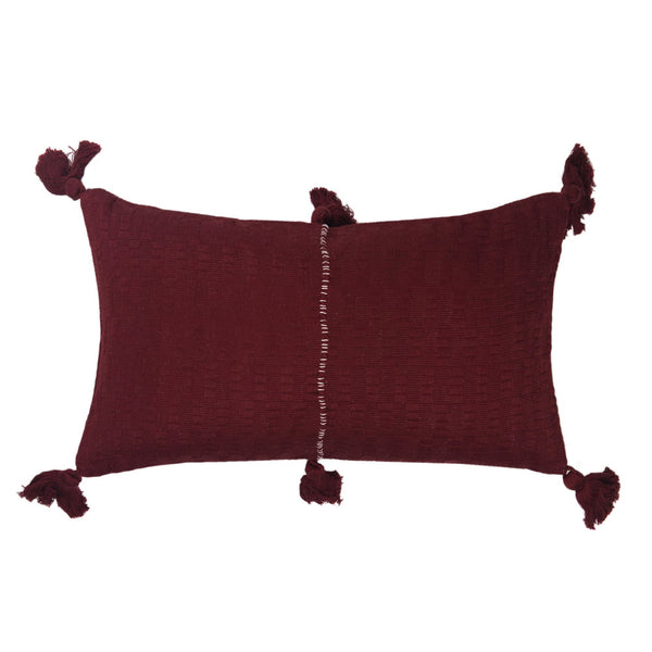 Antigua Pillow - Burgundy Solid