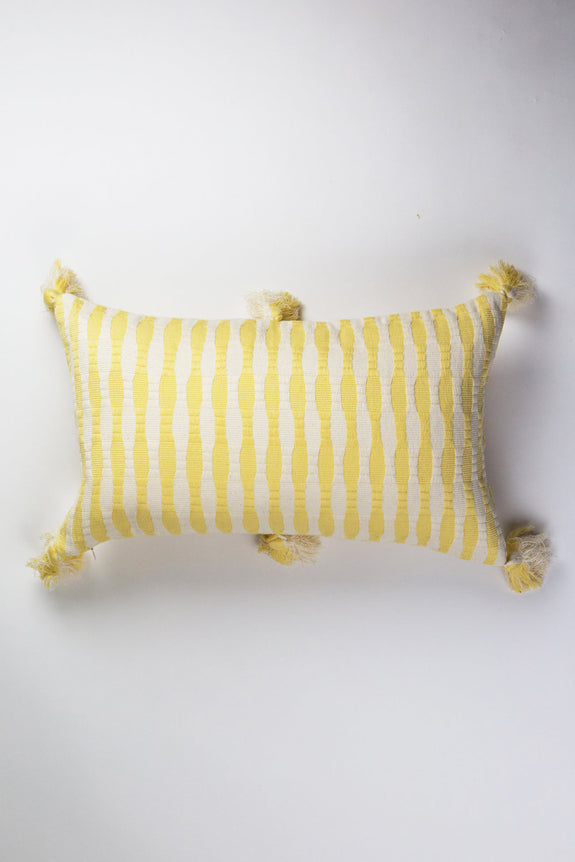 Antigua Pillow - Butter Stripe