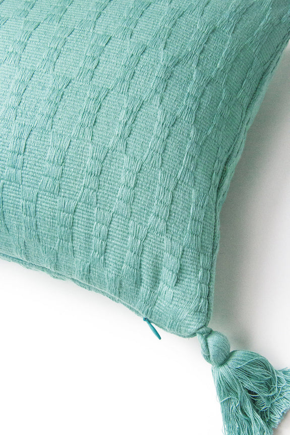Antigua Pillow - Faded Aqua Solid