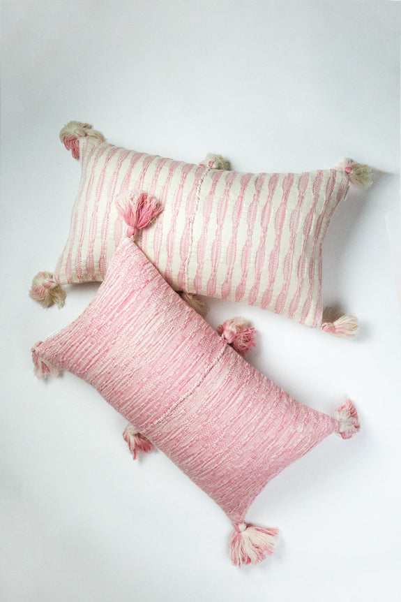 Backordered: Antigua Pillow- Faded Pink Stripe