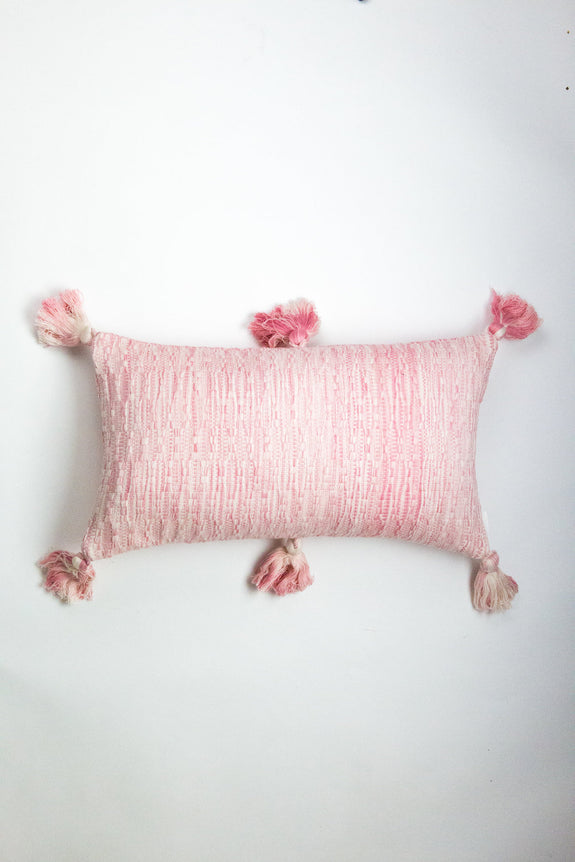 Antigua Pillow - Faded Pink Solid