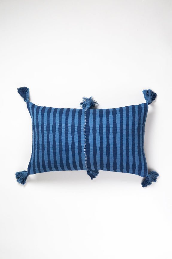 Antigua Pillow - Natural Indigo
