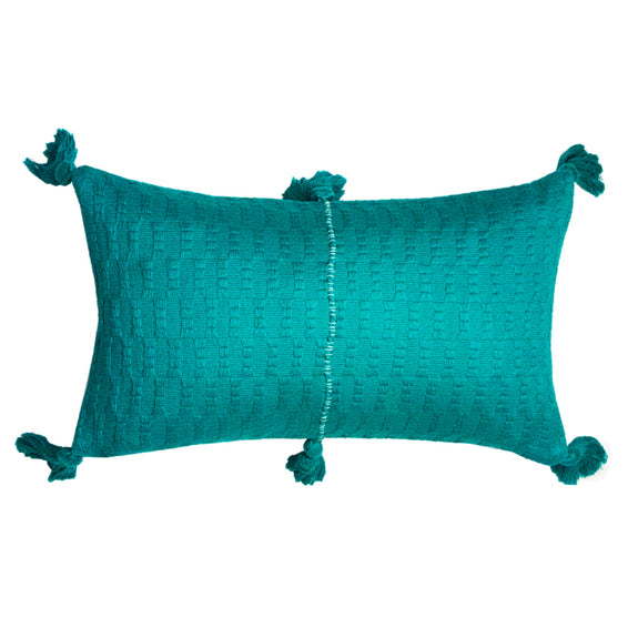 Antigua Pillow - Jade Solid
