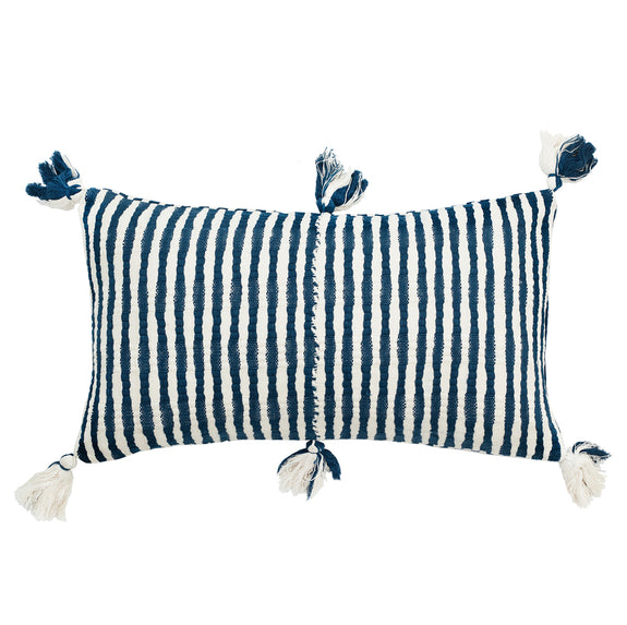 Antigua Pillow - Dark Teal Blue