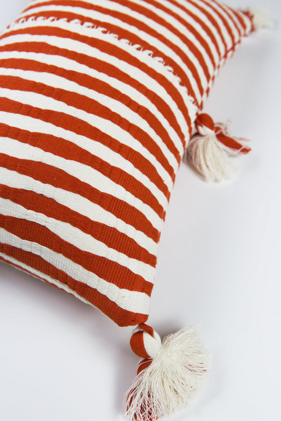 Antigua Pillow - Tomato Red
