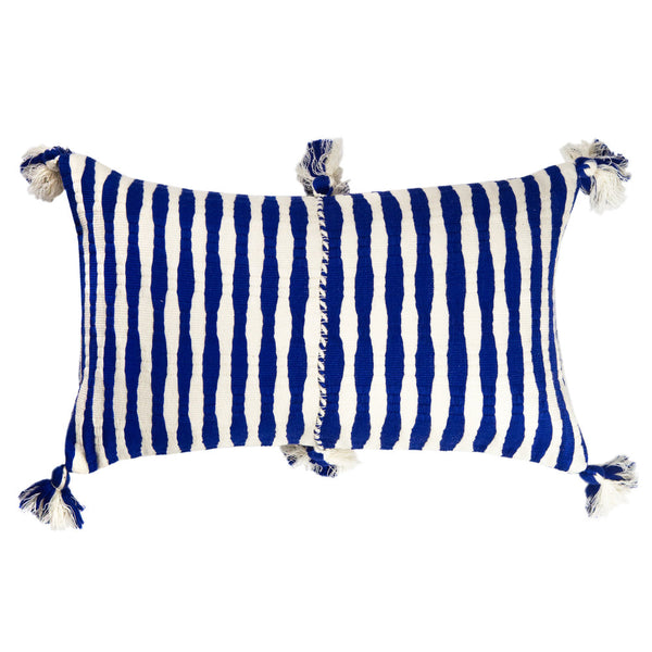 Antigua Pillow - Royal Blue Stripe