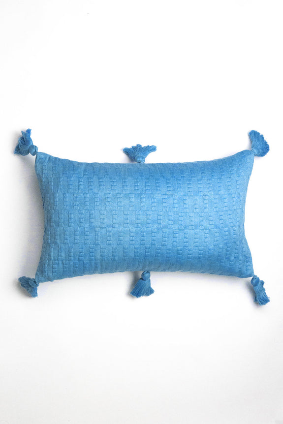 Antigua Pillow - Sky Blue Solid