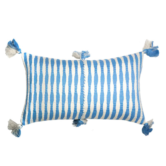 Antigua Pillow - Sky Blue Striped