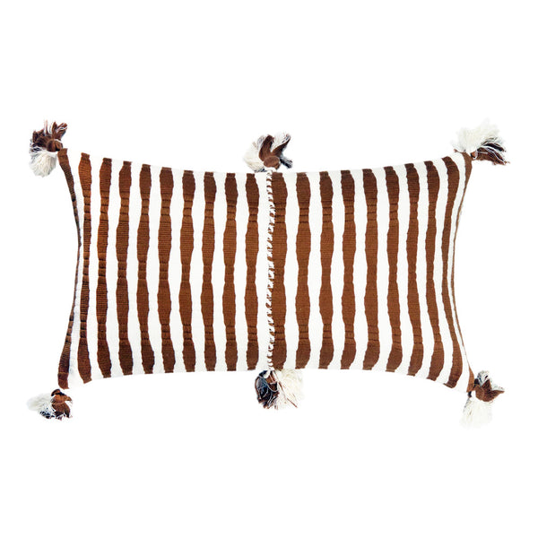 Antigua Pillow - Umber Stripe