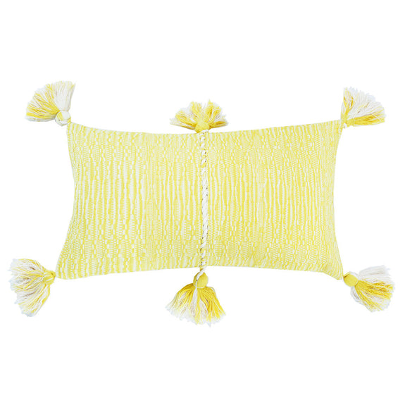 Antigua Pillow - Faded Yellow Solid