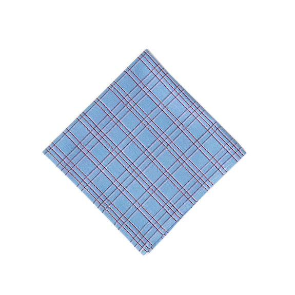 Chiapas Plaid Light Blue Napkin