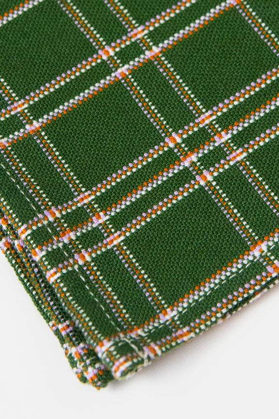 Chiapas Plaid Forest Napkin