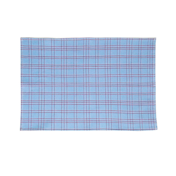 Chiapas Plaid Light Blue Placemat
