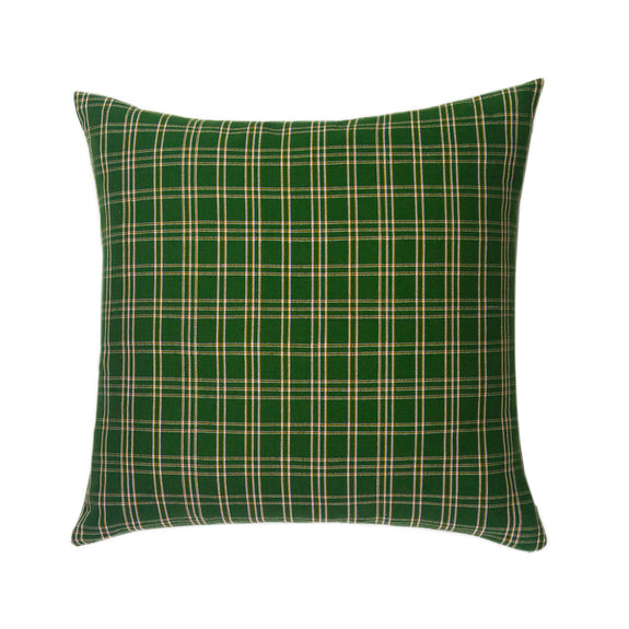 "Backordered: Chiapas Plaid Forest Green Pillow 20"" x 20"""