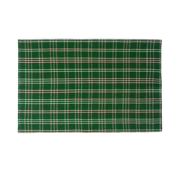 Chiapas Plaid Forest Green Placemat