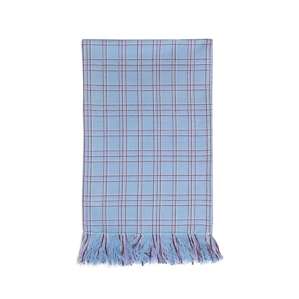 Chiapas Plaid Light Blue Kitchen Towel