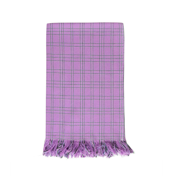 Chiapas Plaid Lilac Kitchen Towel