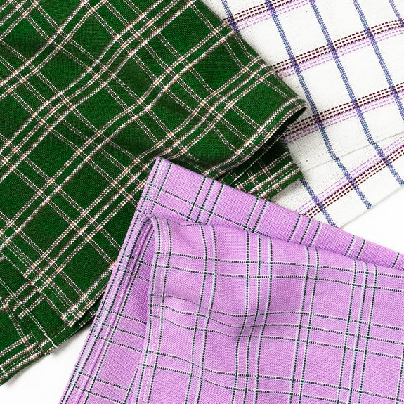 Backordered: Chiapas Plaid Napkins - Assorted set of 4