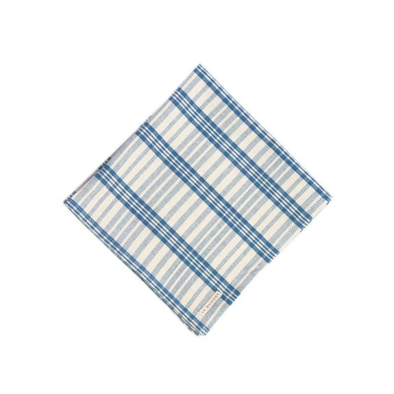 Coco Plaid Napkin in Natural Indigo