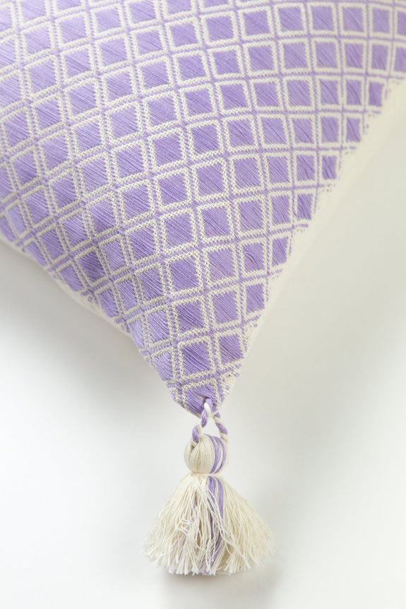 Comalapa Square Pillow - Lilac