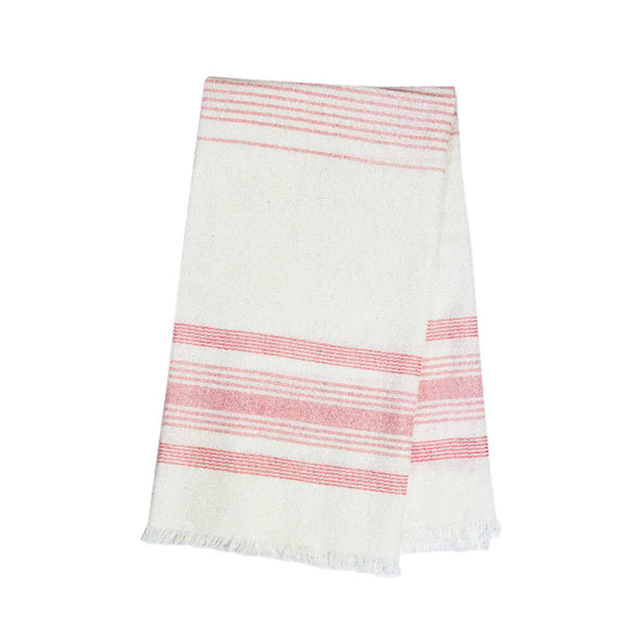 White & Pink Kitchen Towel