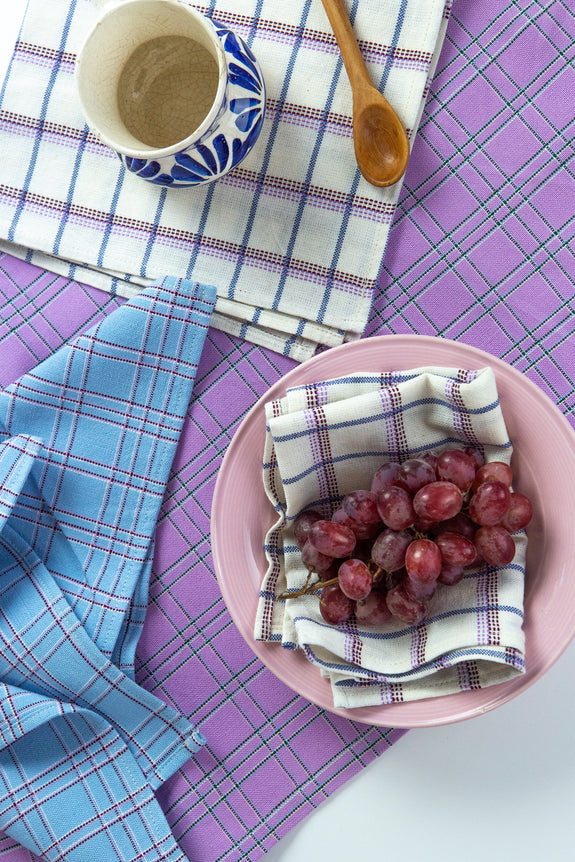 San Lucas Plaid White Placemat
