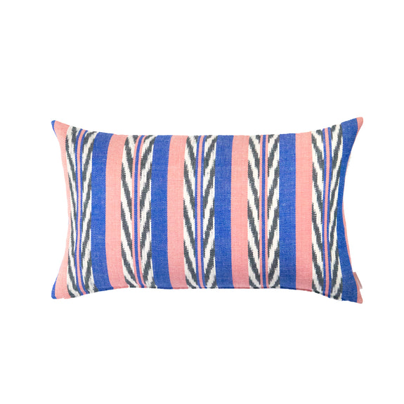 Maya Jaspé Blue & Coral Pillow
