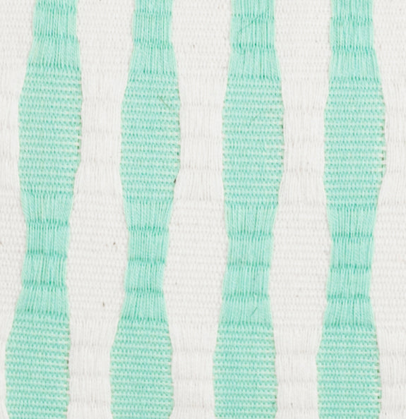 Made to Order: Antigua Pillow - Mint / Ivory Stripe