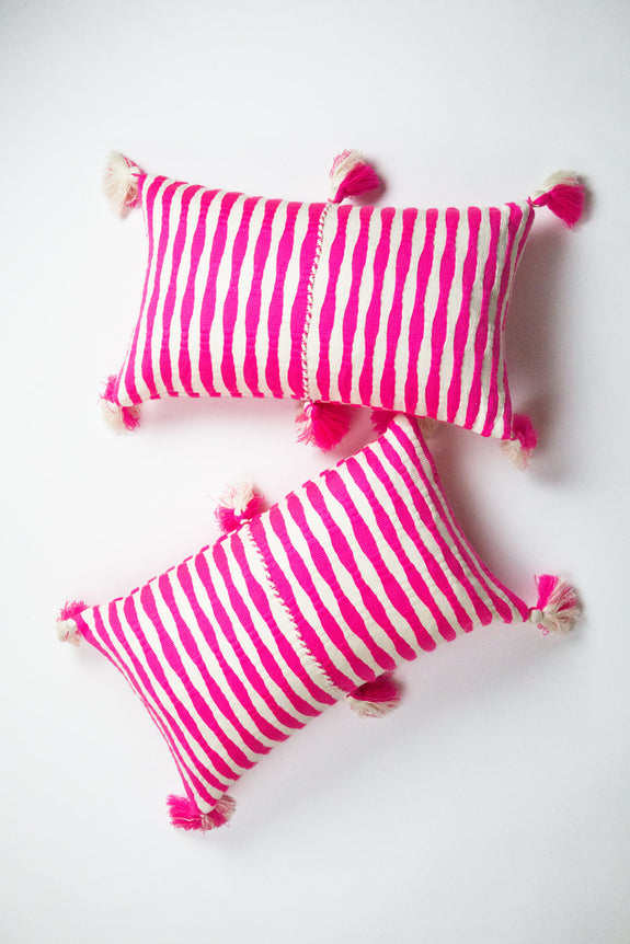Antigua Pillow - Neon Pink