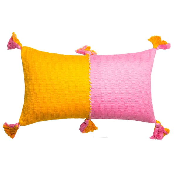Antigua Pillow - Bubblegum & Orange Colorblocked