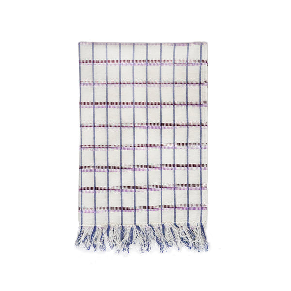 San Lucas Plaid White Kitchen Towel
