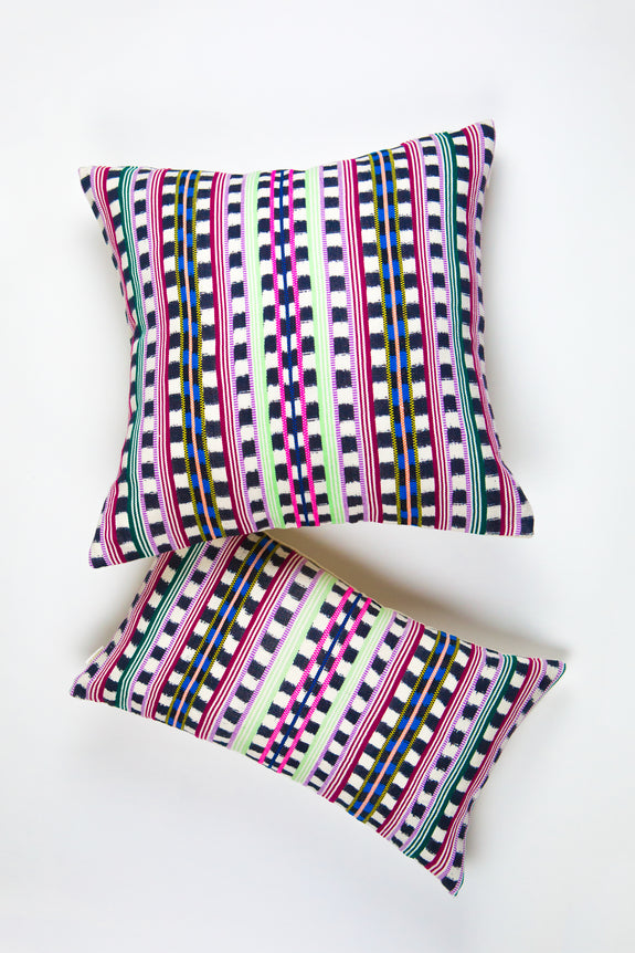 Santiago Atitlan Pink & Lime Pillow
