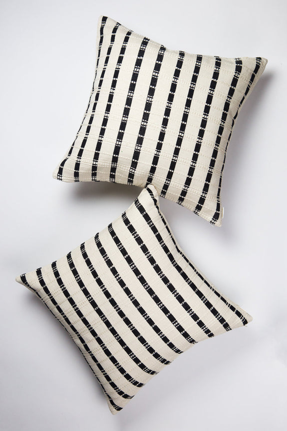 "Backordered: Santiago Grid Pillow - 18""x18"""