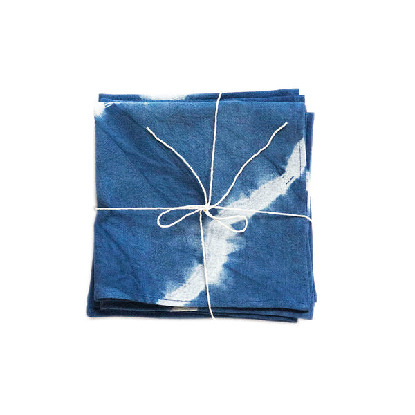 Shibori Natural Indigo Dyed Napkins