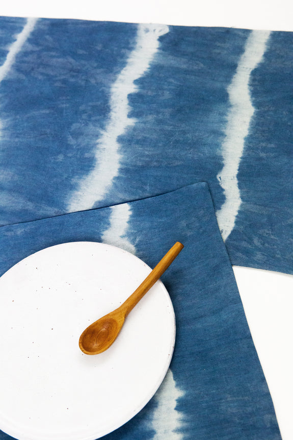 Shibori Natural Indigo Dyed Placemat