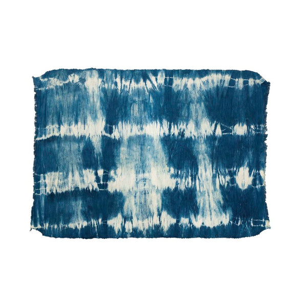 Backordered: Indigo Shibori Small Rug 2' x 3'