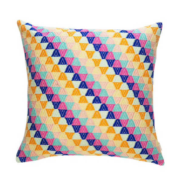 "Backordered: Nahuala Universe Orange Multi Pillow - 18"" x 18"""
