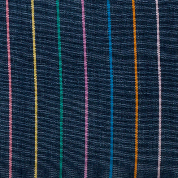 "Vintage Indigo Rainbow Stripe Pillow 12""x20"""