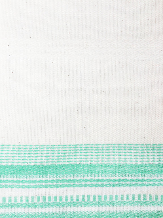 White & Mint Kitchen Towel