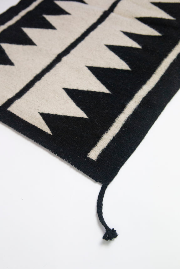 Backordered: Zapotec Black & Ivory Rug #5