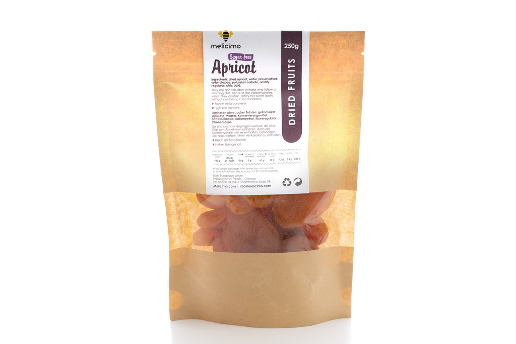 Apricots ( without sugar 250gr) - Melicimo