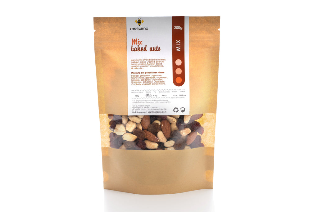 Backed Nuts Mix ( Unsalted 200gr) - Melicimo