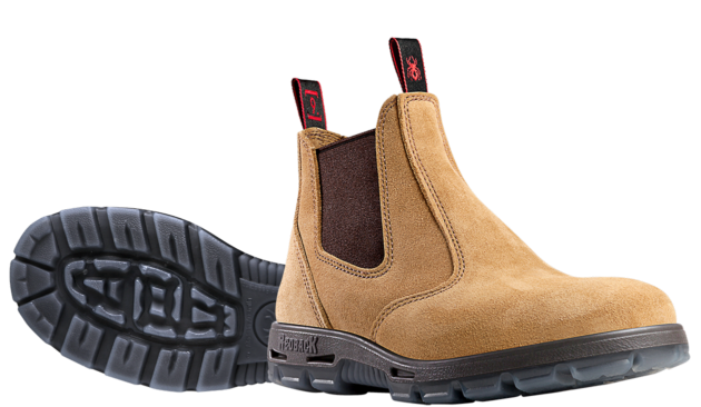 Redback - USBBA - Bobcat Suede Safety Pull-On Boot