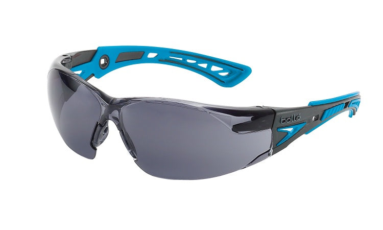 Bolle - 1672302 - Rush+ Small Safety Glasses - Smoke & Clear