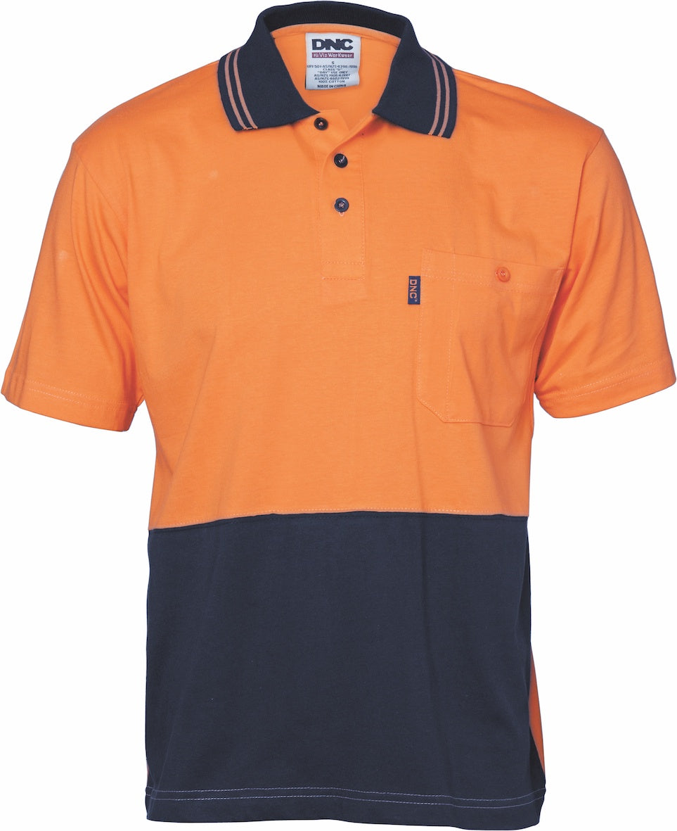 DNC - 3845 Hi Vis Two Tone Cool Breeze Cotton Polo Shirt
