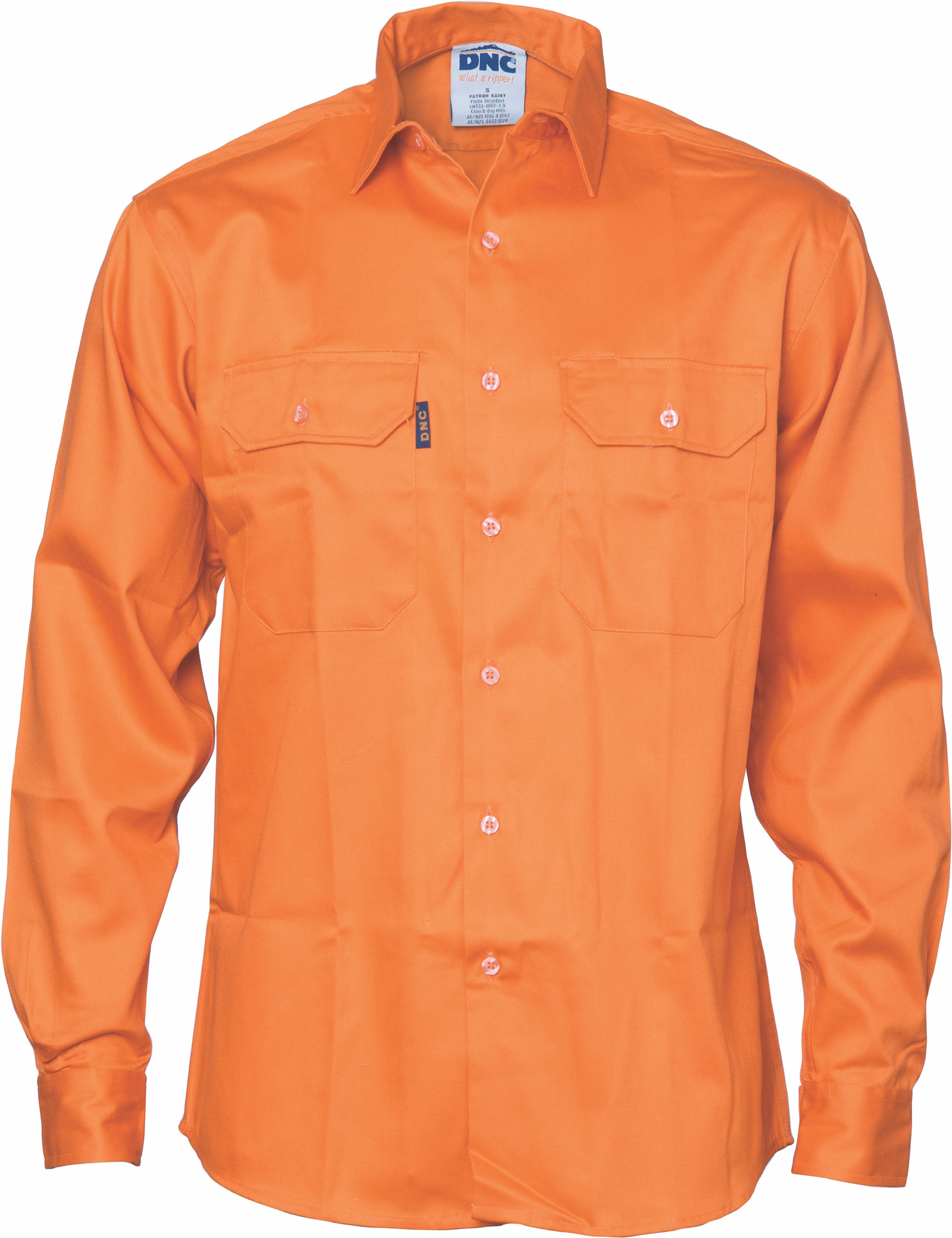 DNC - 3402 Patron Saint® Flame Retardant Drill Shirt, Long Sleeve