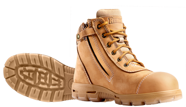 Redback - USCWZS - Cobar Safety Lace up Boot with Zip and Bump Cap