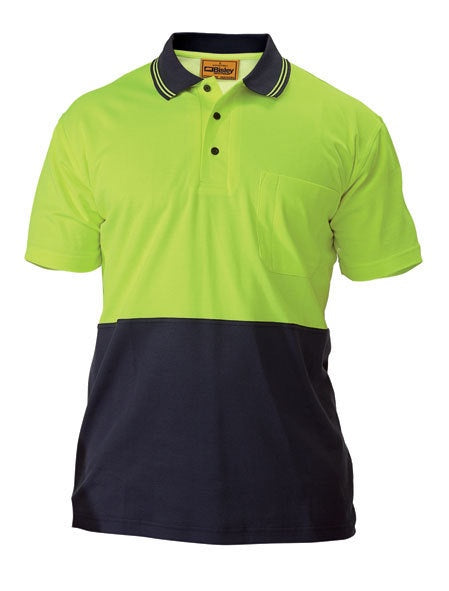 Bisley - BK1234 - Hi-Vis 2 Tone Light Weight Short Sleeve Polo Shirt